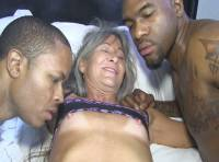 WHITE GRANNY PORN PREVIEW... GILF LEILANI GETS FUCKED BY  THE BLACK PIPE AND ROME MAJOR